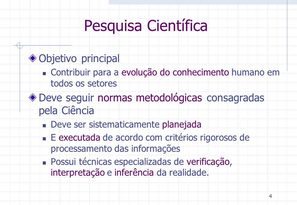 Pesquisa Científica Objetivo principal