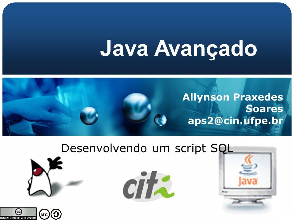 Desenvolvendo um script SQL