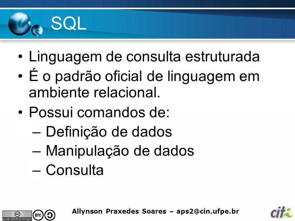 SQL Linguagem de consulta estruturada