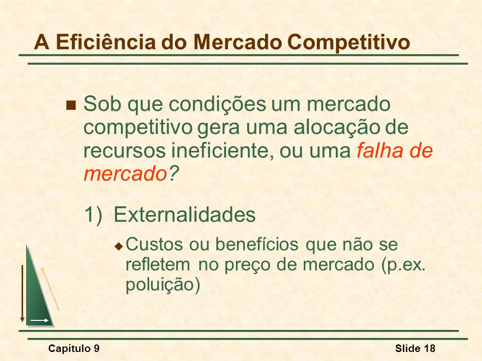 A Eficiência do Mercado Competitivo