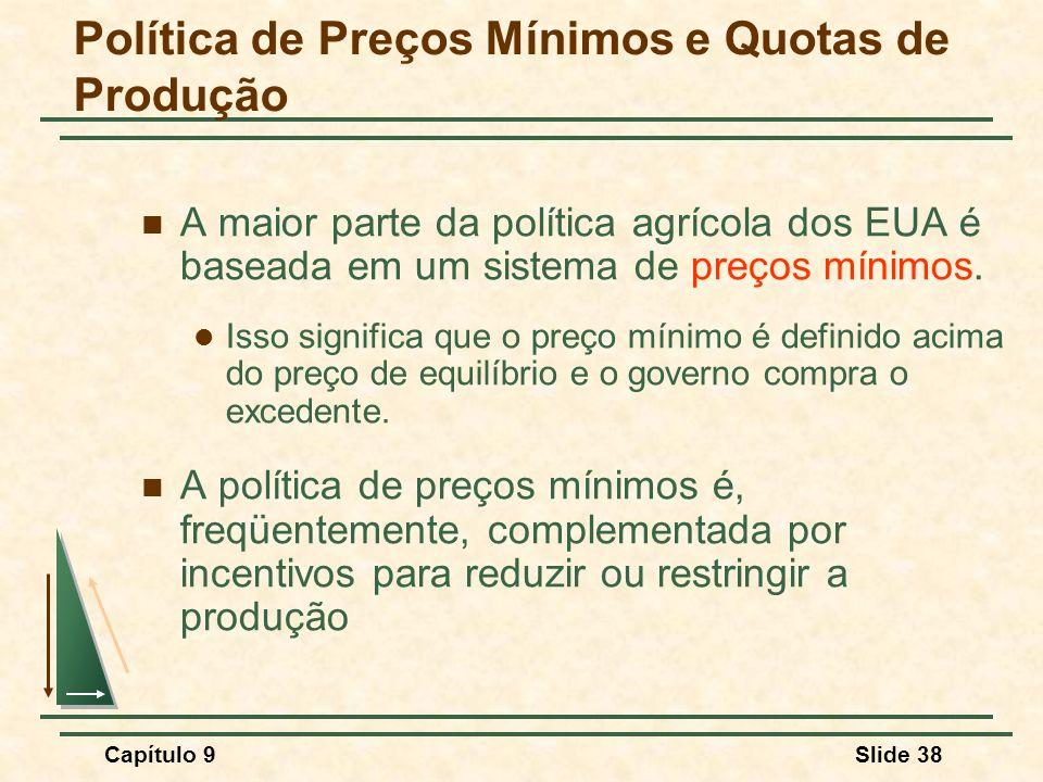 Política de Preços Mínimos e Quotas de Produção