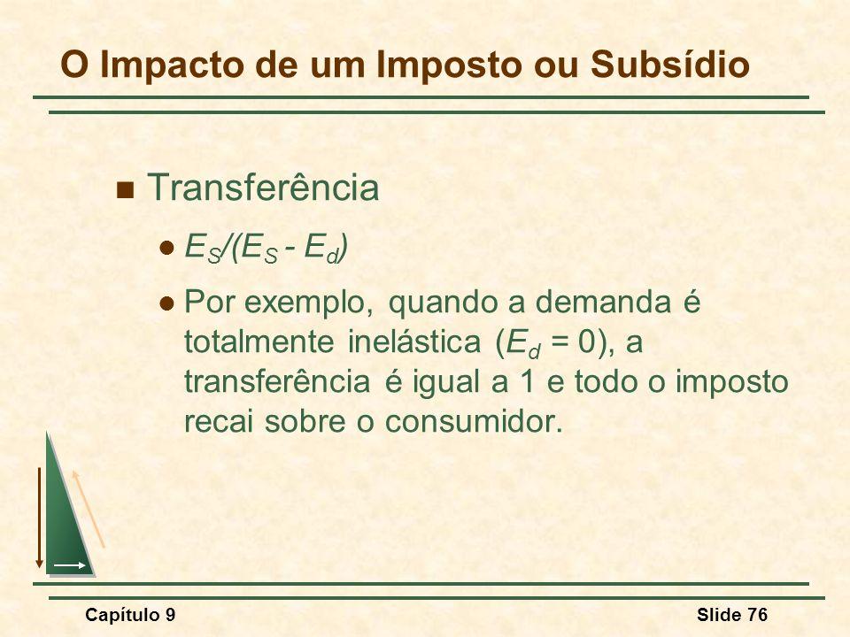O Impacto de um Imposto ou Subsídio