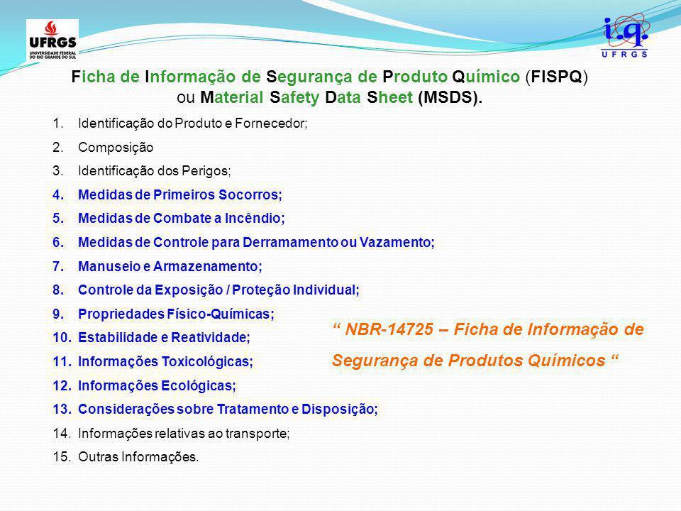 Ficha de Informação de Segurança de Produto Químico (FISPQ)