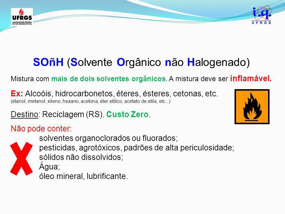 SOñH (Solvente Orgânico não Halogenado)