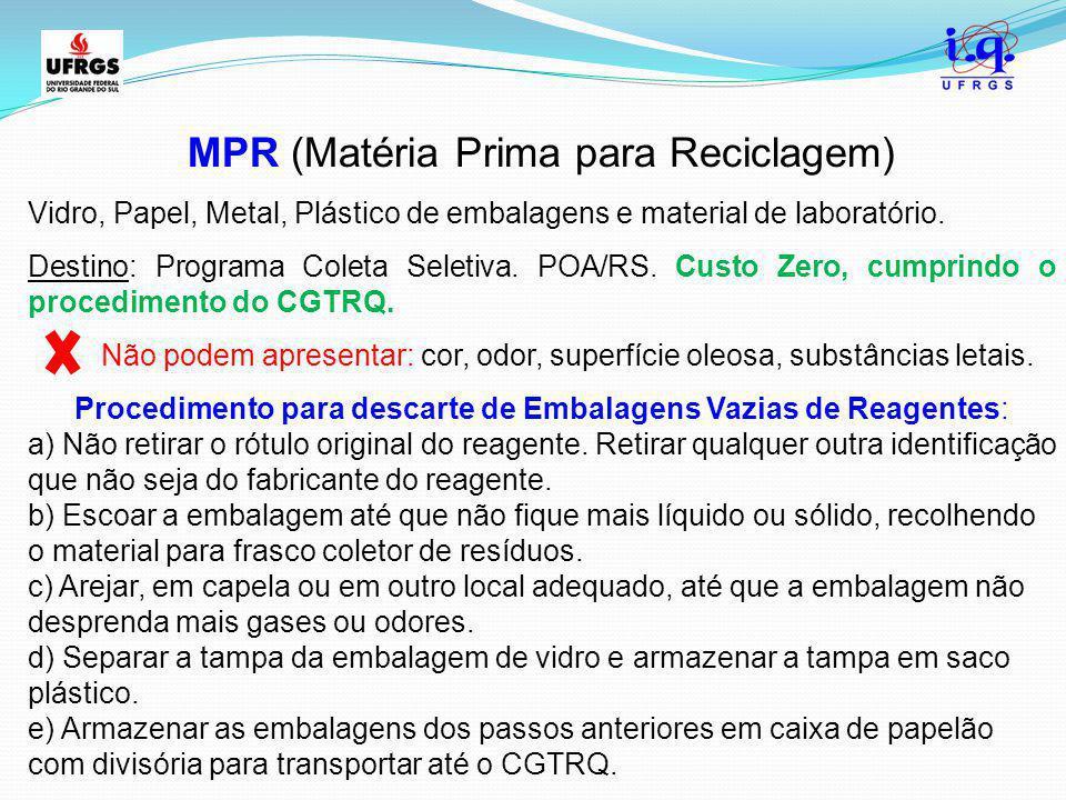 MPR (Matéria Prima para Reciclagem)