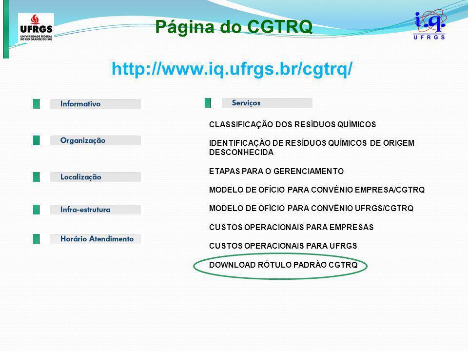 Página do CGTRQ http://www.iq.ufrgs.br/cgtrq/