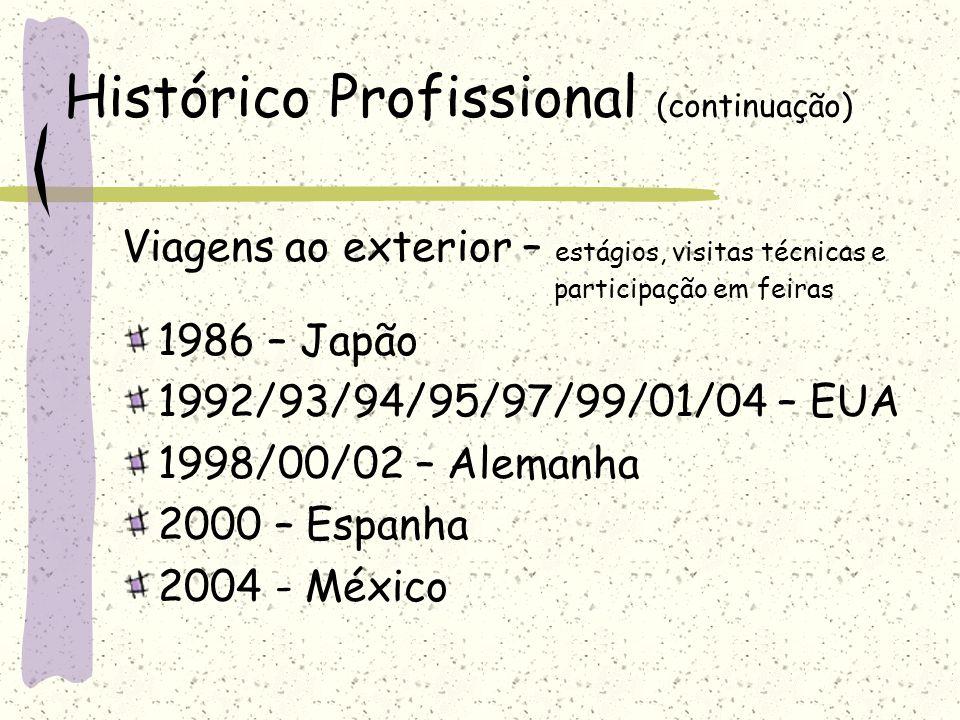 Histórico Profissional (continuação)