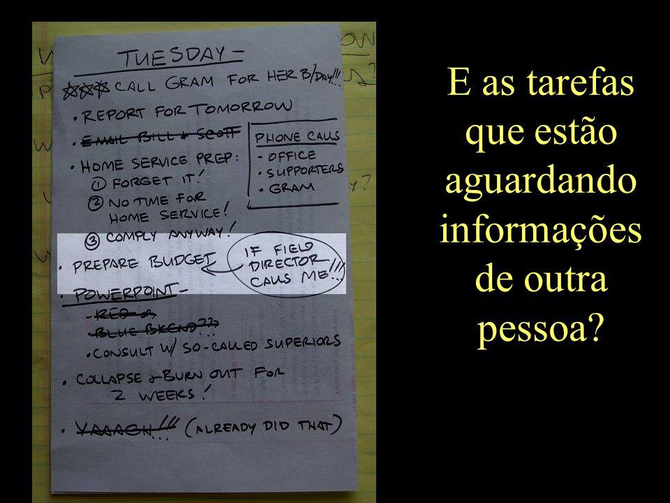 E as tarefas que estão aguardando informações de outra pessoa