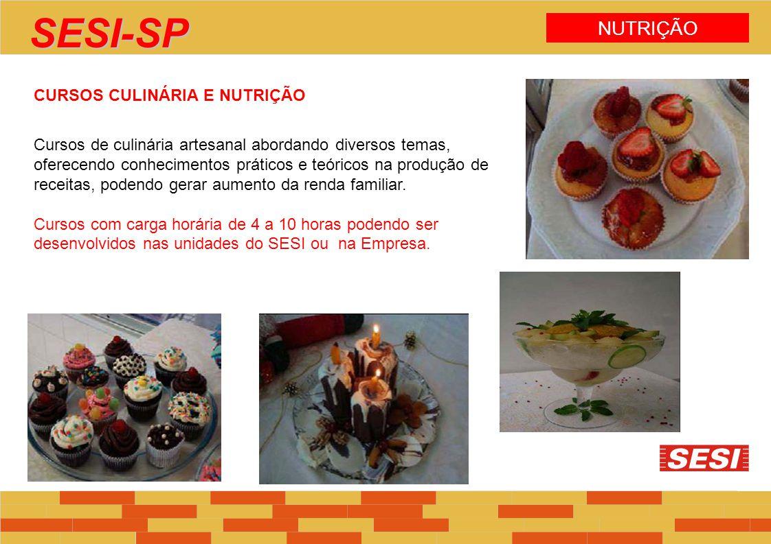 SESI-SP NUTRIÇÃO CURSOS CULINÁRIA E NUTRIÇÃO