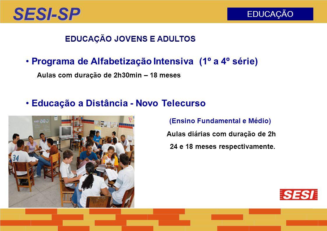 SESI-SP Programa de Alfabetização Intensiva (1º a 4º série)