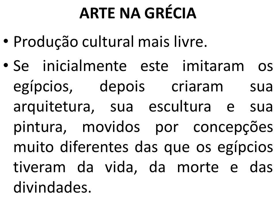 ARTE NA GRÉCIA Produção cultural mais livre.