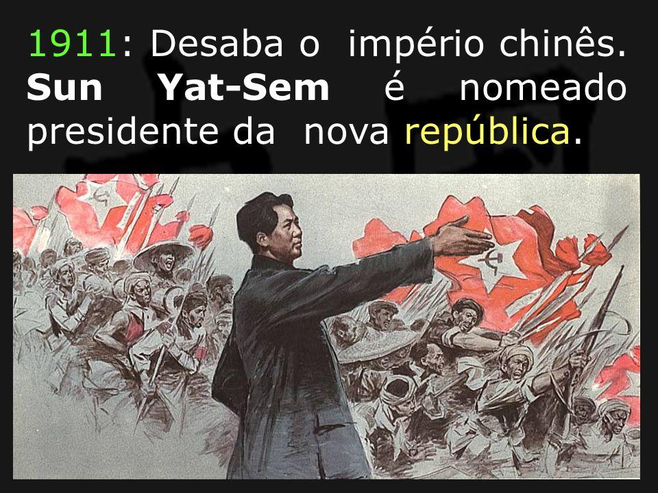 1911: Desaba o império chinês