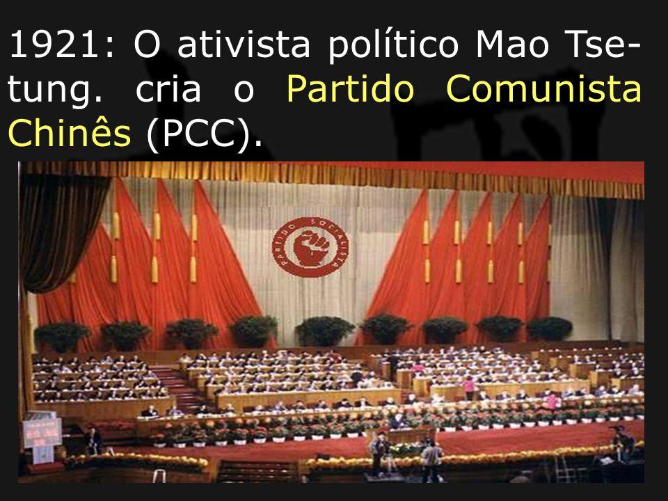 1921: O ativista político Mao Tse-tung