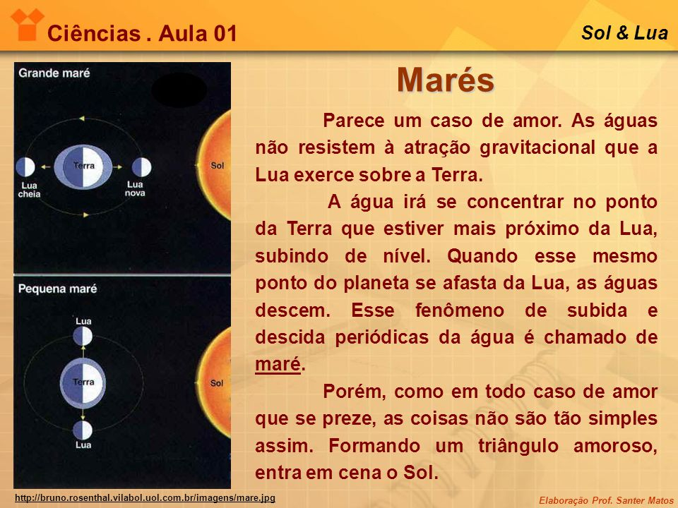 Marés Ciências . Aula 01 Sol & Lua