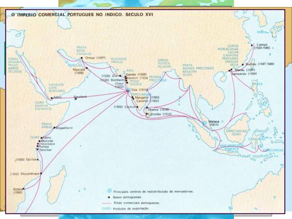 Navegações portuguesas chegar às Índias contornando a África