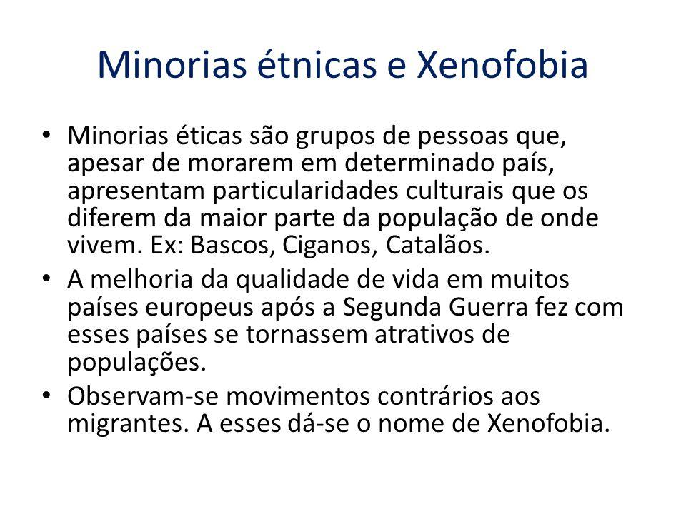 Minorias étnicas e Xenofobia
