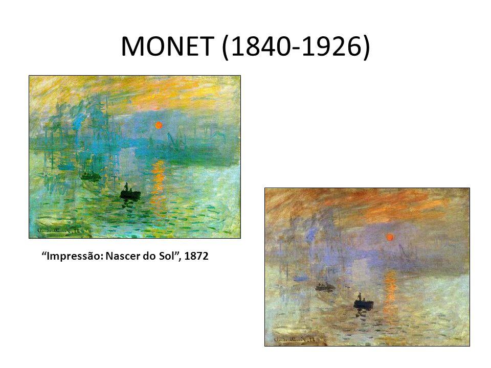 MONET (1840-1926) Impressão: Nascer do Sol , 1872