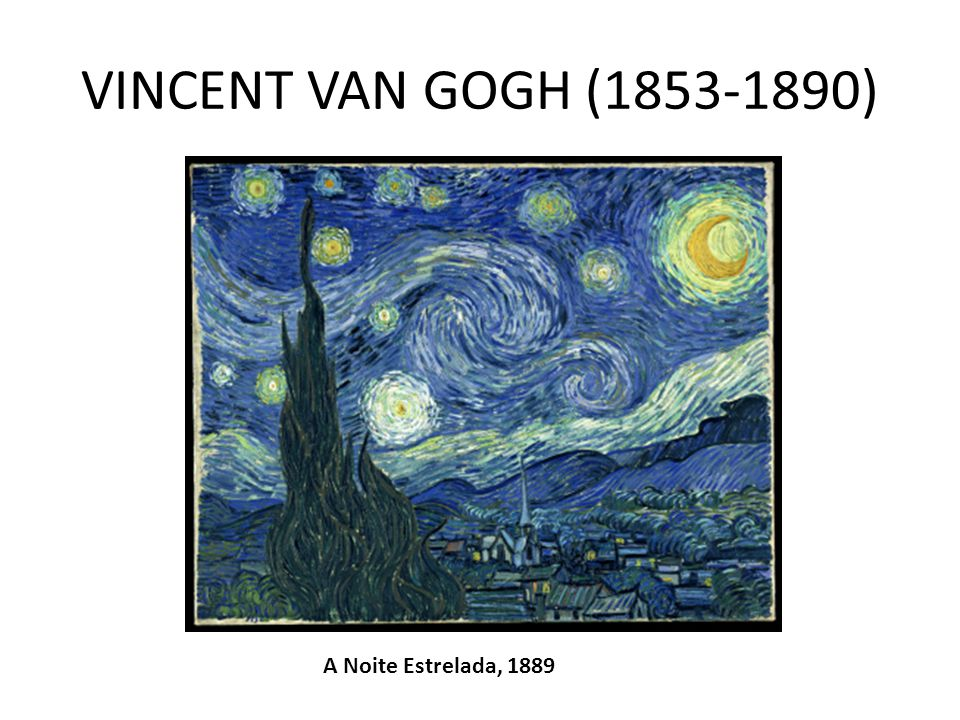 VINCENT VAN GOGH (1853-1890) A Noite Estrelada, 1889