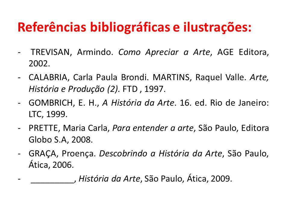 Referências bibliográficas e ilustrações: