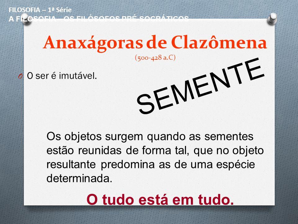 Anaxágoras de Clazômena (500-428 a.C)