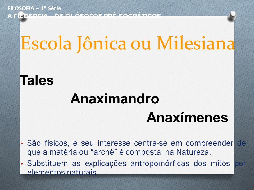 Escola Jônica ou Milesiana