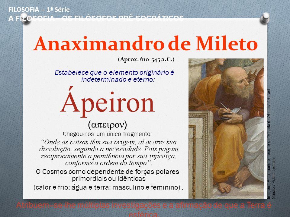 Anaximandro de Mileto (Aprox. 610-545 a.C.)