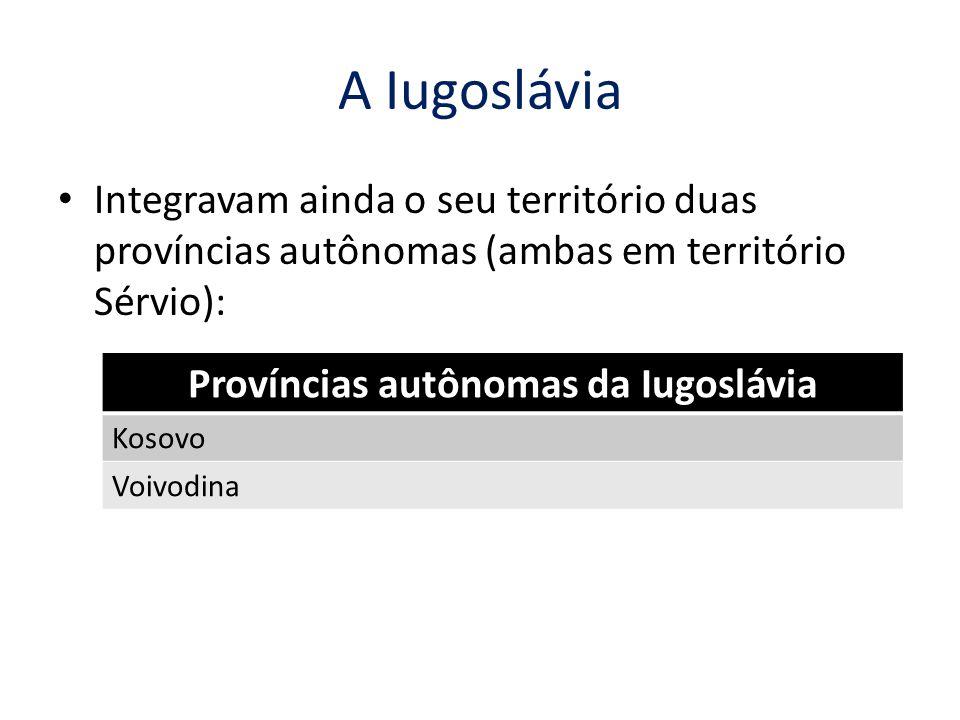 Províncias autônomas da Iugoslávia