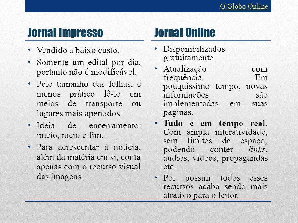 Jornal Impresso Jornal Online Vendido a baixo custo.