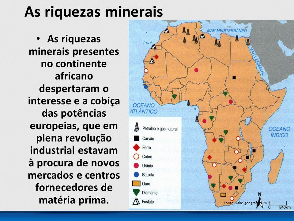 As riquezas minerais