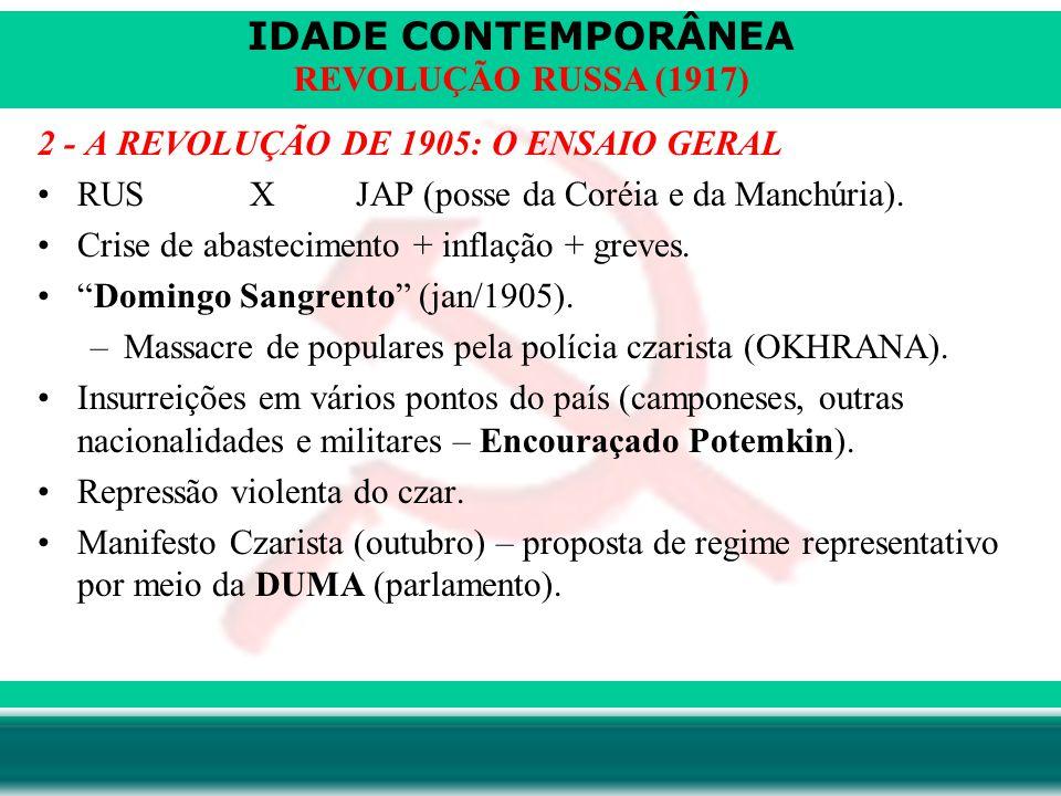 2 - A REVOLUÇÃO DE 1905: O ENSAIO GERAL