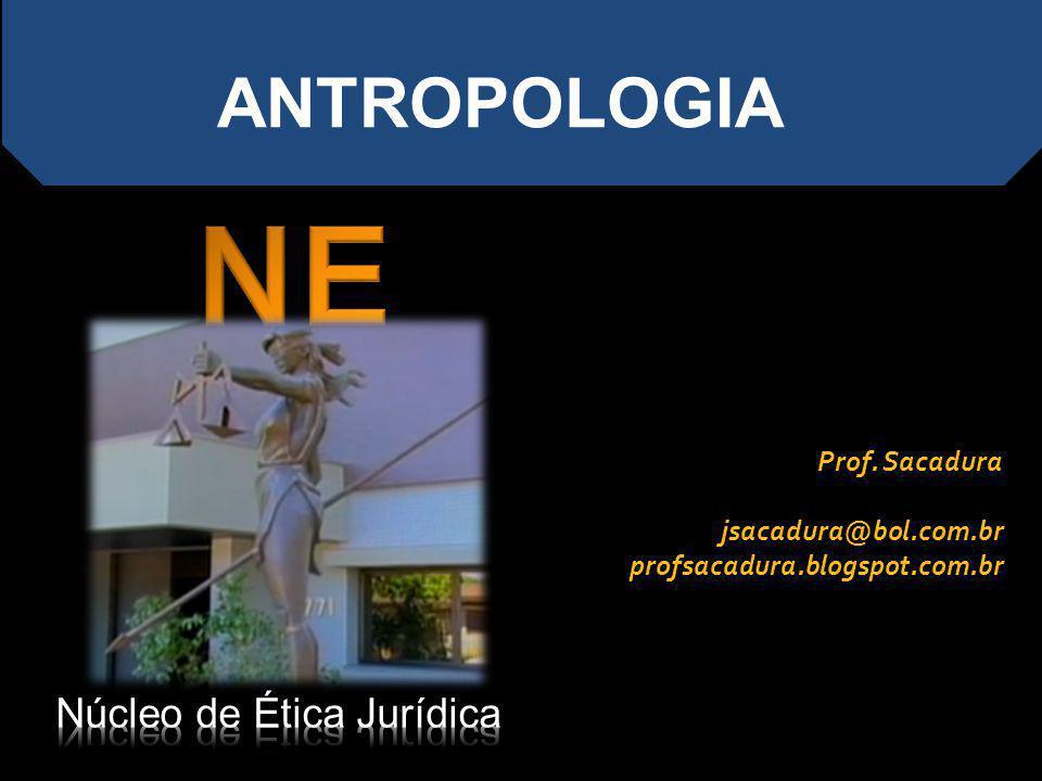 NEJ ANTROPOLOGIA Núcleo de Ética Jurídica Prof. Sacadura
