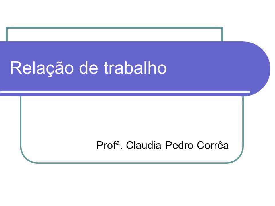 Profª. Claudia Pedro Corrêa
