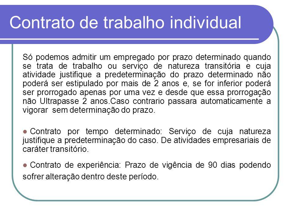 Contrato de trabalho individual