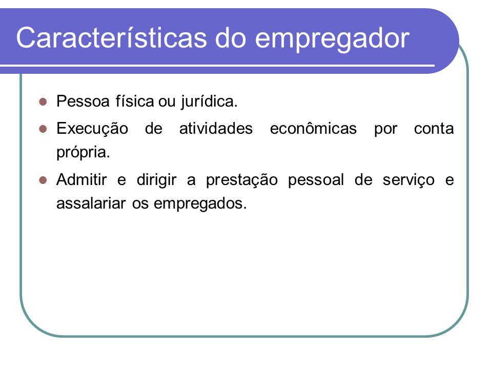 Características do empregador