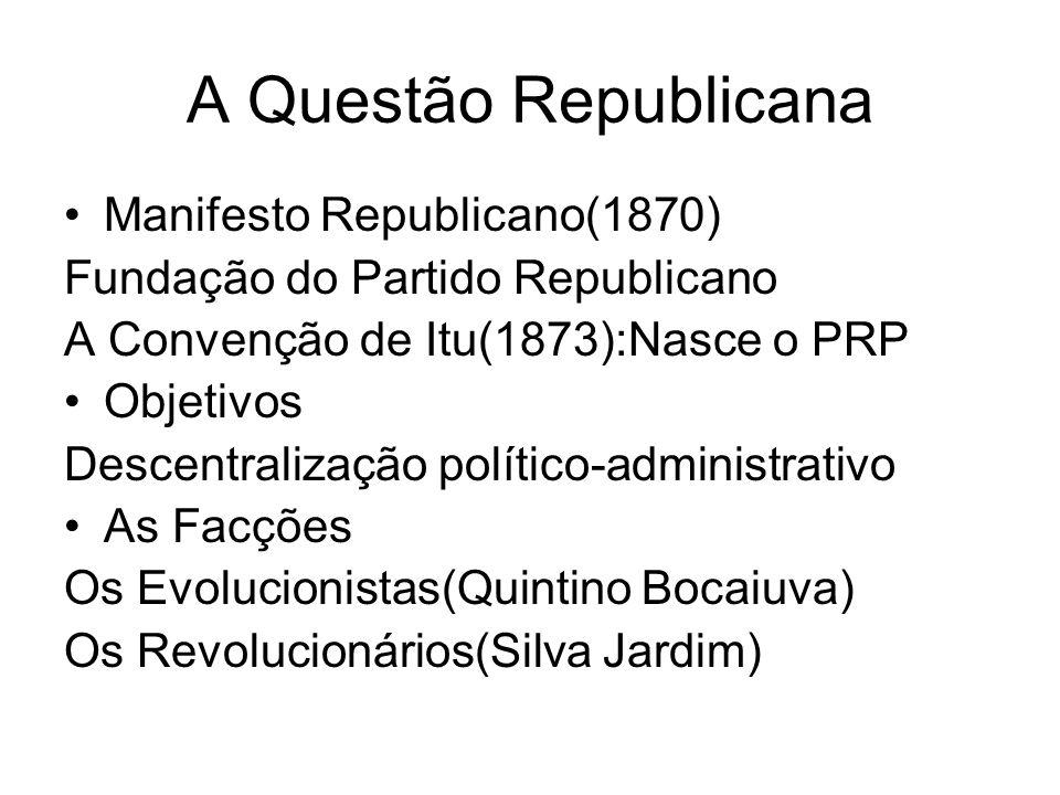 A Questão Republicana Manifesto Republicano(1870)