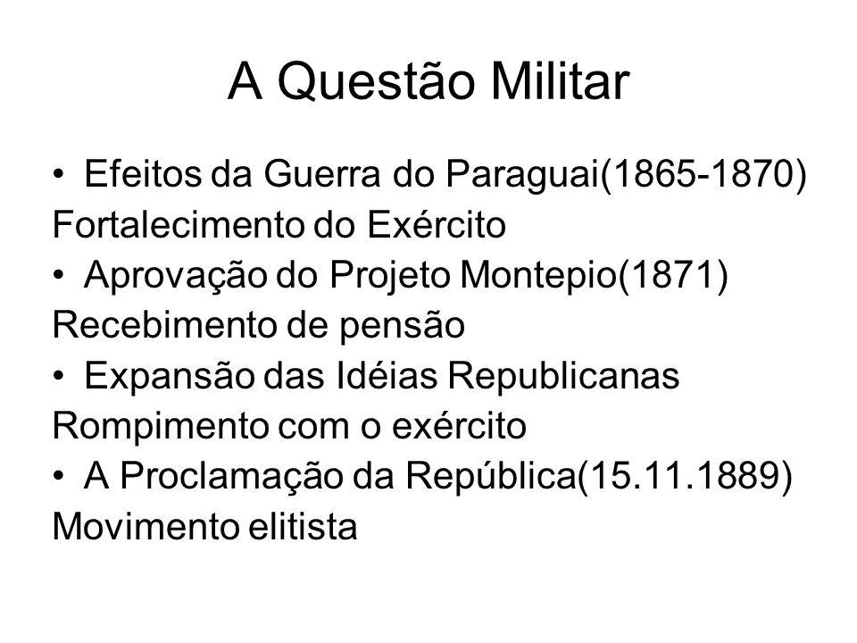 A Questão Militar Efeitos da Guerra do Paraguai(1865-1870)