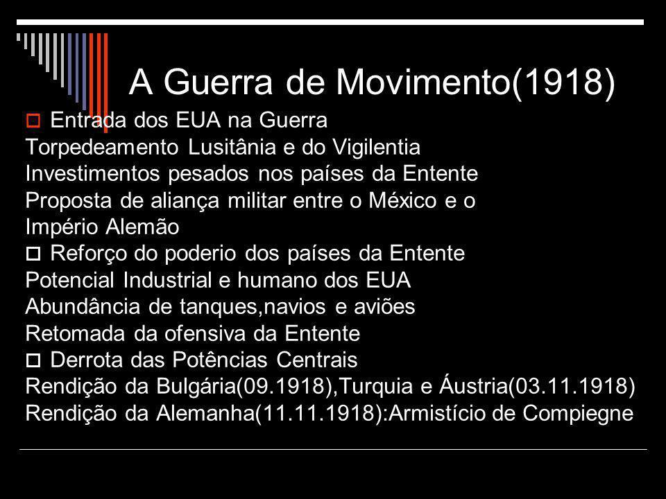 A Guerra de Movimento(1918)