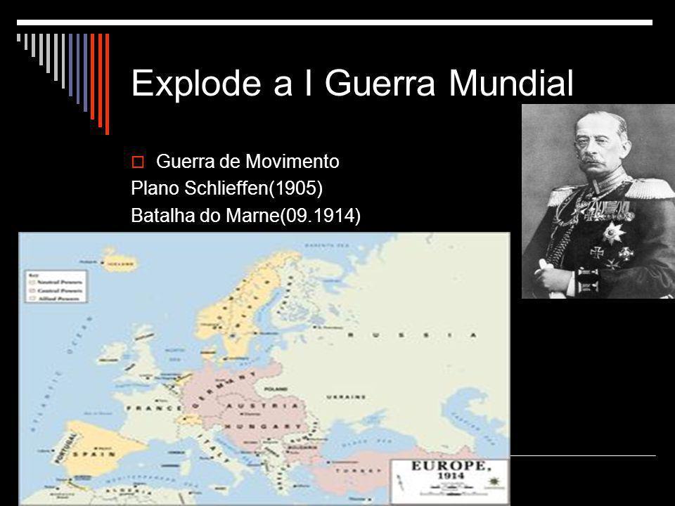 Explode a I Guerra Mundial