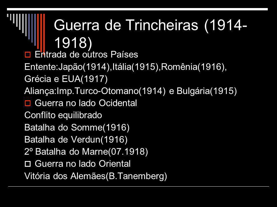 Guerra de Trincheiras (1914-1918)