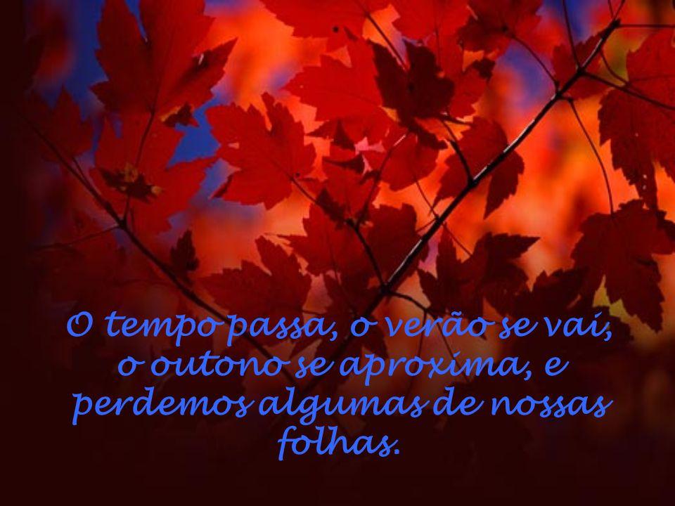 O tempo passa, o verão se vai, o outono se aproxima, e perdemos algumas de nossas folhas.