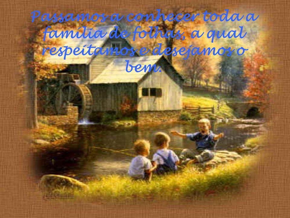 Passamos a conhecer toda a família de folhas, a qual respeitamos e desejamos o bem.