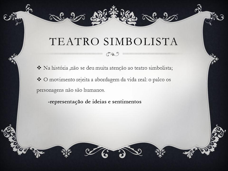 TEATRO SIMBOLISTA Na história ,não se deu muita atenção ao teatro simbolista;