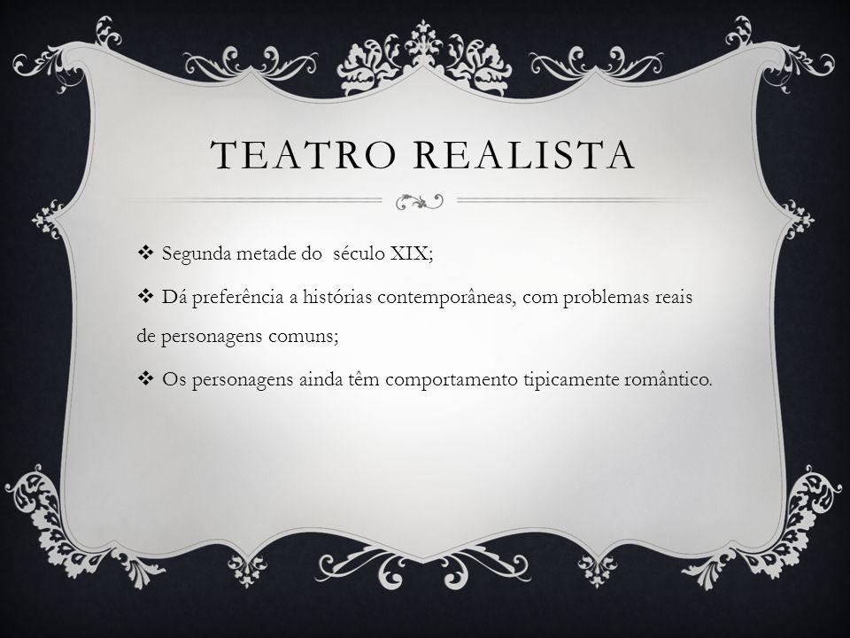 TEATRO REALISTA Segunda metade do século XIX;