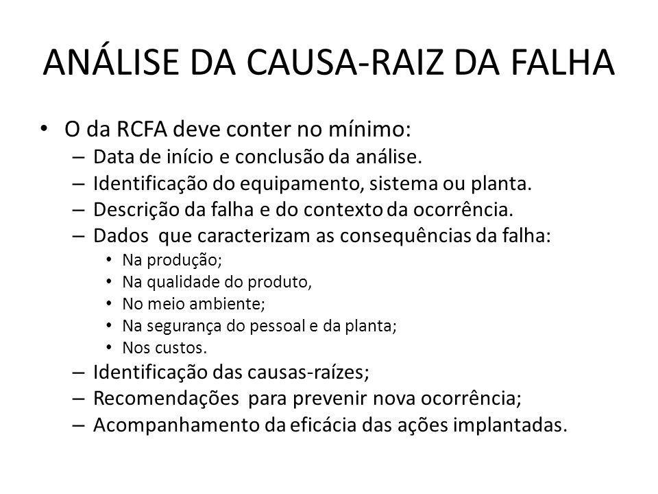 ANÁLISE DA CAUSA-RAIZ DA FALHA