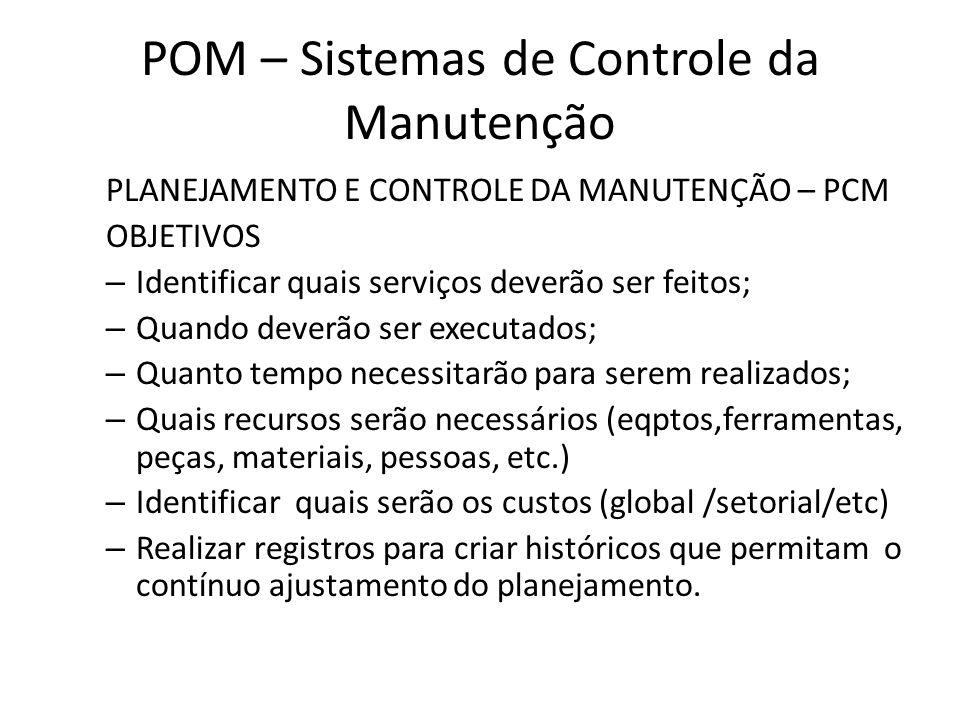 POM – Sistemas de Controle da Manutenção