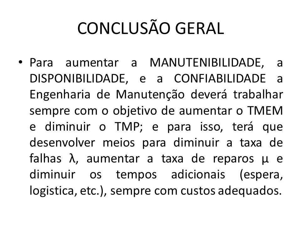 CONCLUSÃO GERAL