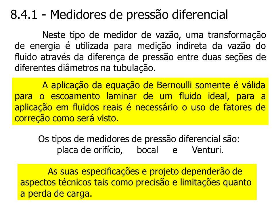 8.4.1 - Medidores de pressão diferencial