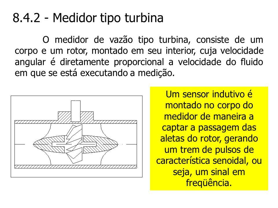 8.4.2 - Medidor tipo turbina
