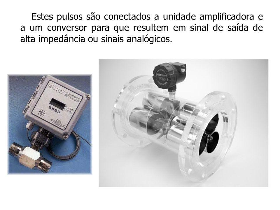 Estes pulsos são conectados a unidade amplificadora e a um conversor para que resultem em sinal de saída de alta impedância ou sinais analógicos.