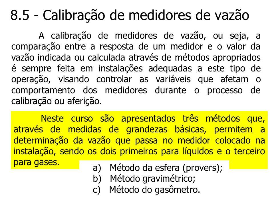 8.5 - Calibração de medidores de vazão